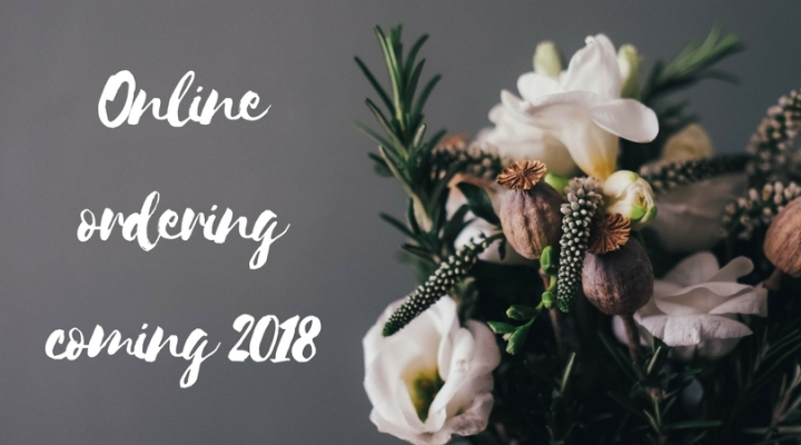 Online ordering coming 2018